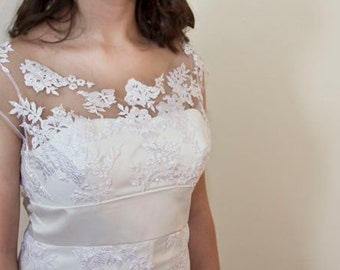 Pearl Button Wedding Dress