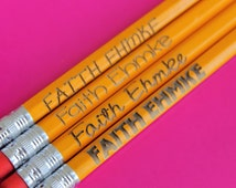 Set of 12 Personalized Pencils - Personalized Pencils, Custom Pencils, Engraved Pencils, Personalized Pencils for Kids, Cute girly pencils