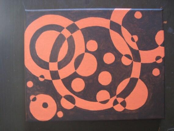 Círculos abstractos v.3. calabaza de pintura por thefluffymist