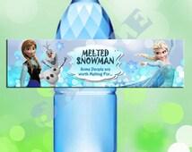Disney Frozen Bottle Label