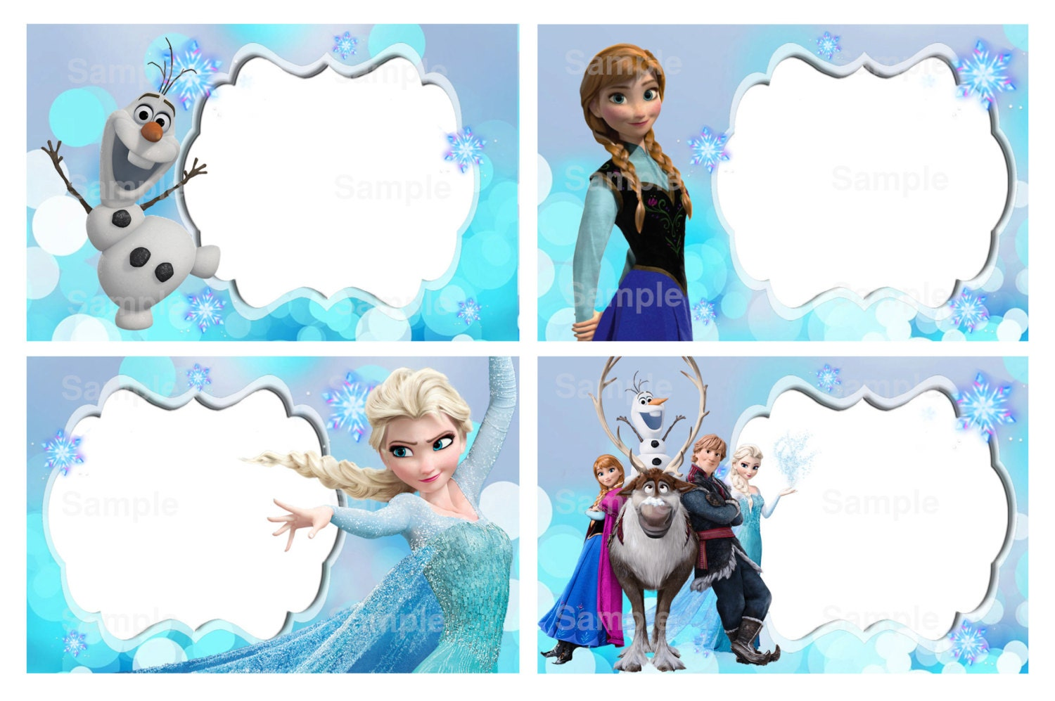 Disney Frozen Editable Label