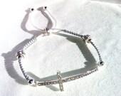 Woman Cross  Macrame Bracelet.