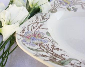 Hand Painted Longchamp Terre de Fer Dish