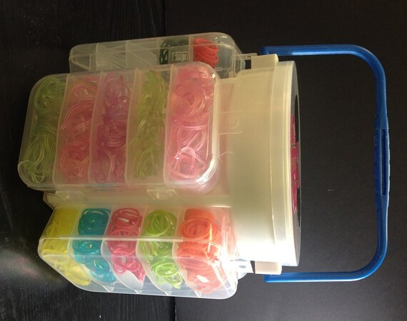 Items Similar To Rainbow Loom Band Organizer Rubber Band