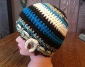 Crochet Cloche Flapper Chemo Hat