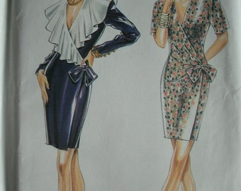 Misses Evening or Event Dress Size 6-8-10-12-14-16 New Look by Simplicity Pattern 6960 Vintage 1980's