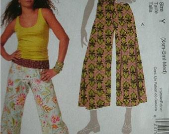 Misses Misses Petite Pants in Two Lengths Sizes XS-Med 4-6-8-10-12-14 EASY McCalls Pattern M5813 UNCUT Pattern 2009