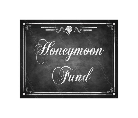 Honeymoon Fund Printable Sign - DIY Instant Download ...