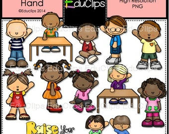 Raise Your Hand Clip Art Bundle