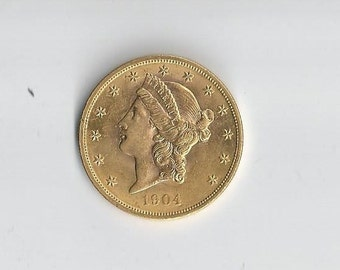 hold1904 Liberty 20 Dollar MS63 Gold Piece