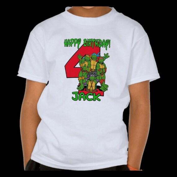 Teenage Mutant Ninja Turtles Tmnt Shirt Name And Birthday