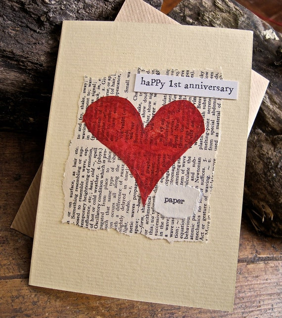 Items similar to st wedding anniversary keepsake card