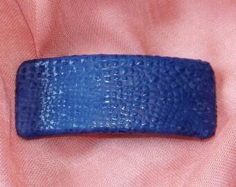 Blue Croc Barrette