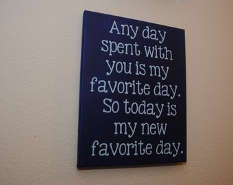 Love sign, gift for her, gift for him, every day spent with you, favorite, canvas wall art, valentine's day gift, home decor, love wall art