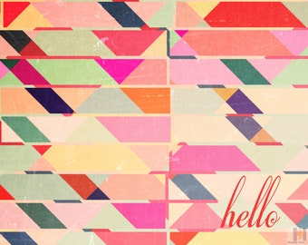 Hello Indie Note Card Stationery Colorful Digital File. Send notes in style! THE perfect gift for any occasion. Print as many as you like!
