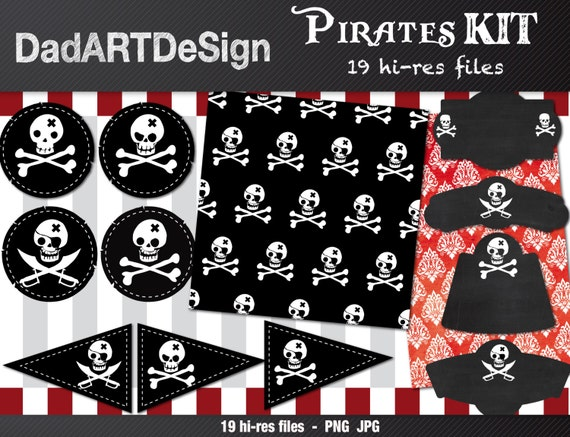 Pirates craft party kit