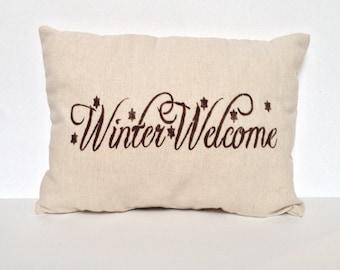 Christmas Pillow, Holiday Pillow, Winter Pillow