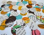 Vintage Book Confetti - 100 Piece - Round Confetti - Table Decor - Vintage Children's Book - Party Decor  - Baby Shower Decor