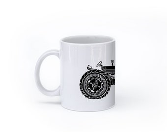KillerBeeMoto:  U.S. Made Vintage American Tractor Coffee Mug (White)