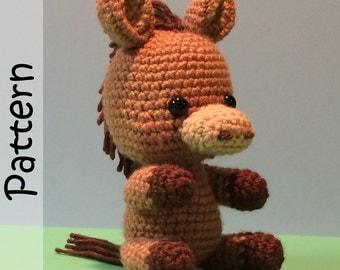 Hershey the Horse Pattern Crochet Amigurumi PDF