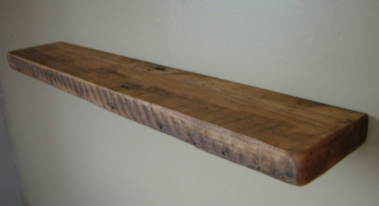 reclaimed barn wood floating shelf 40 x 10 x by. Black Bedroom Furniture Sets. Home Design Ideas