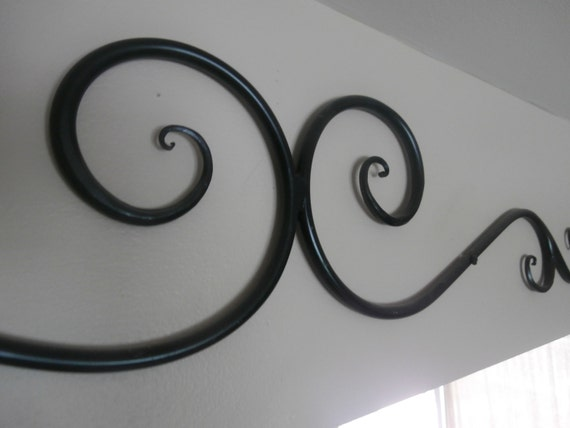 Items Similar To Iron Wall Art, Wrought Iron Wall Decor On