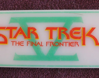 Discounted ! Lower Prices- Star Trek 5 car dash crew parking sign. 'Star Trek-The Final Frontier' production member sign. COA