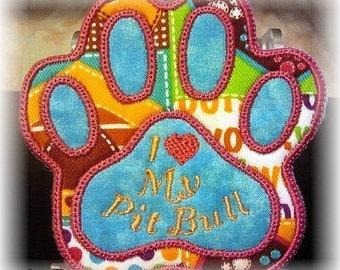 I Love My Pit Bull Refrigerator Magnet #2