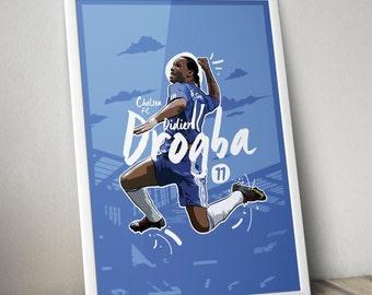 Didier Drogba - Chelsea FC Print