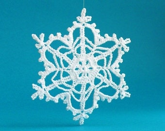 Large crochet snowflake ornaments white crochet by for Big snowflakes decorations