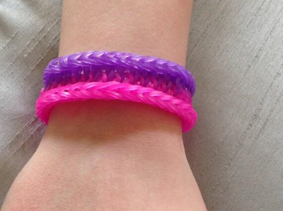 Mini Rainbow Loom Bracelet Rainbow Loom Bracelet Pink