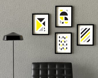 "A Set of 4 Modern Prints Wall Decor / Posters (8x10"" or A3)"