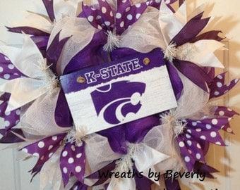 K State Wildcats Wreath