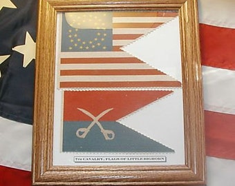 Indian Wars, 7th Cavalry Flag Set.....George Armstrong Custer Flags, Little Bighorn