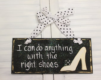 Shoes Hand Painted Wood Sign