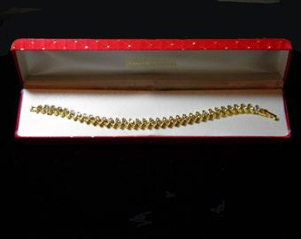 Gold Tone And Rhinestone Bracelet