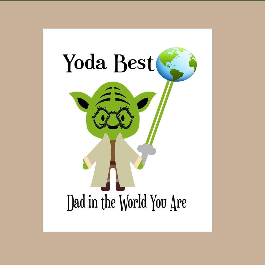 Star Wars Dad Birthday Card Star Wars Father's Day Card