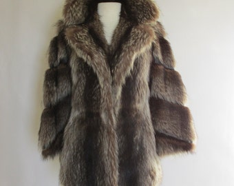 Gorgeous 70's Fur & Leather Jacket!  Fashion Essential!