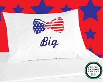 Digitally Printed Sorority Pillowcases - BIG with Americana Bow Design