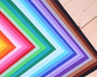 "35 Color Set of Hard Felt, 11.80"" x 8.60"" (30 cm x 22 cm)"