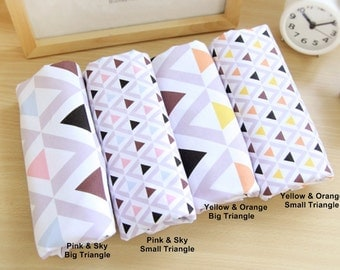 Cotton Fabric Triangle in 4 Patterns By The Yard