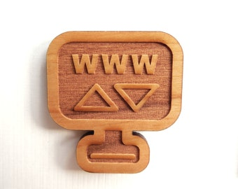 10 Laser cut wooden computer icons