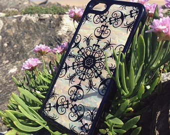 SALE - iPhone 4s Mother of Pearl Ultra Slim Case - iPhone 4s Floral Case - iPhone 4s Chic Floral Case - iPhone 4s Slim Case - Case Sale
