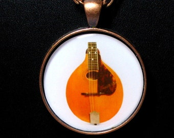 A-1 Pumpkin Top Mandolin Necklace / Pendant