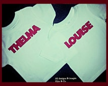 Twin Girl Shirts, Girl Clothes, Thelma and Louise, Twin Outfits, Halloween Twins Costume, Sibling Shirts, Best Friend Shirts, Liv & Co.™