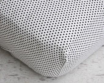 25% off SALE- Vintage Dot Crib Sheet