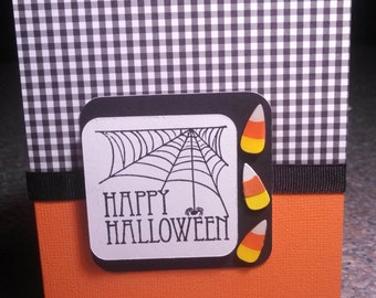 Happy Halloween- Candy Corn Greeting Card