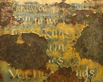 Car Art with Peeling Paint, Rust and a Futuristic Americas Map from Climate Change