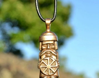 Slavic Domovoi Bronze Greybeard Pendant Prosperity Talisman Guardian mythology Slavonic Sterling Amulet Fairy Tale