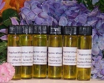 Basic Magickal Oil Set - Six basic different Oils for your magical work - 2 drams each.
